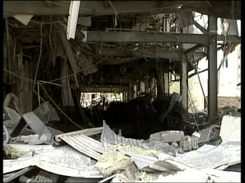 day 13 lunchtime news reuters cms bomb damaged building ms ditto - damaged stock videos & royalty-free footage