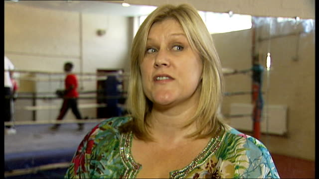 day 13: nicola adams wins first ever gold medal in women's olympic boxing; haringey boxing club: terri kelly interview sot - boxing women's stock videos & royalty-free footage