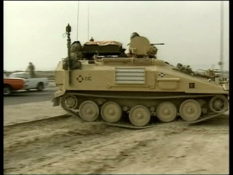 Day 19 Lunchtime news bulletin UK POOL Group Captain Al Lockwood interview SOT delighted to see it happening / signal to Saddam Hussein that his...
