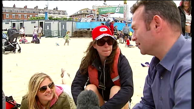 day 2 ben ainslie starts finn class race campaign at weymouth vox pops - 2日目点の映像素材/bロール