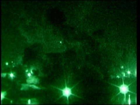 day 2 news at nine special pool iraq baghdad green nightsight explosion - baghdad video stock e b–roll