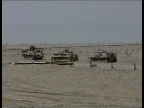 day 4 news at nine news at nine juliet bremner basra iraq basra soldiers from the 7th armoured brigade patrolling road around basra airport soldier... - basra stock videos and b-roll footage