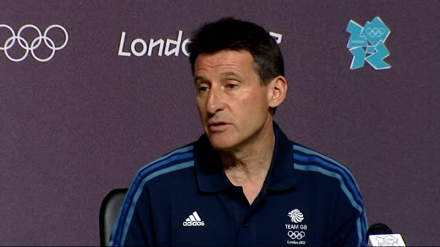 day 5 eight olympic badminton players disqualified england london stratford olympic park main press centre int lord coe press conference sot yes it's... - day 5 stock videos & royalty-free footage