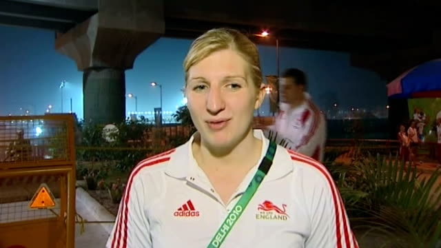 day 5 ext rebecca adlington interview sot whole team done so well a lot of issues going on but we've all just put that aside we've come here to do a... - day 5 stock videos and b-roll footage