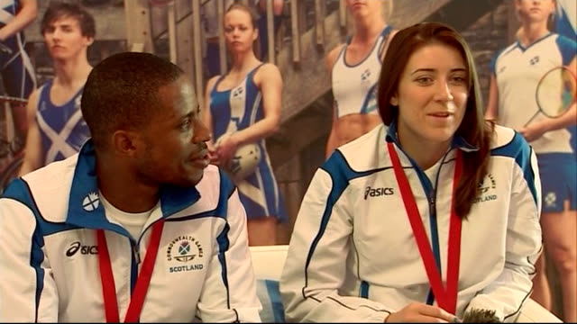day 5 int libby clegg interview sot felt like crowd were carrying us - day 5 stock videos & royalty-free footage