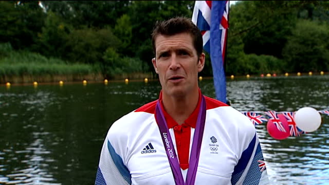 day 5: men's eight rowing; england: london: ext greg searle 2-way interview ex windsor sot - day 5 stock videos & royalty-free footage