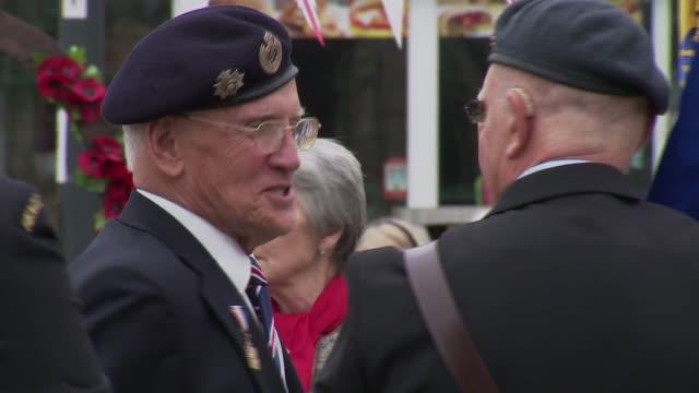 'Precious Few' survivors in Exmouth ENGLAND Devon Exmouth EXT **Music heard SOT** Veterans chatting
