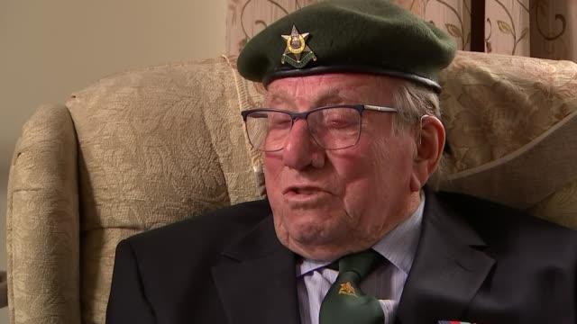 interview with veteran sergeant jim posnett; england: leicestershire: melton mowbray: int sergeant jim posnett interview sot cutaway reporter... - vj演出点の映像素材/bロール