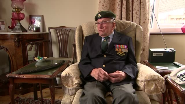 interview with veteran sergeant jim posnett; england: leicestershire: melton mowbray: int sergeant jim posnett interview sot - war veteran stock videos & royalty-free footage