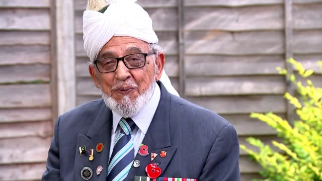 veterans fighting for sacrifices of soldiers during asian conflict to be remembered; england: ext major rajinder singh dhatt interview excerpt sot... - vj演出点の映像素材/bロール