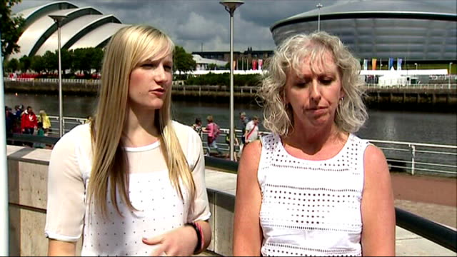 Day 8 SCOTLAND Glasgow EXT Leah Hickton interview SOT