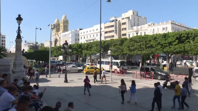 day after the conclusion of the second round of the presidential election tunisians react to the reported win of conservative political outsider kais... - tunis stock videos & royalty-free footage