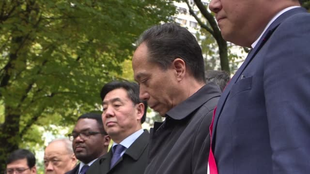 day after world leaders commemorated the 100th anniversary of world war one the franco chinese community in paris pays tribute to the chinese... - anniversary stock videos & royalty-free footage