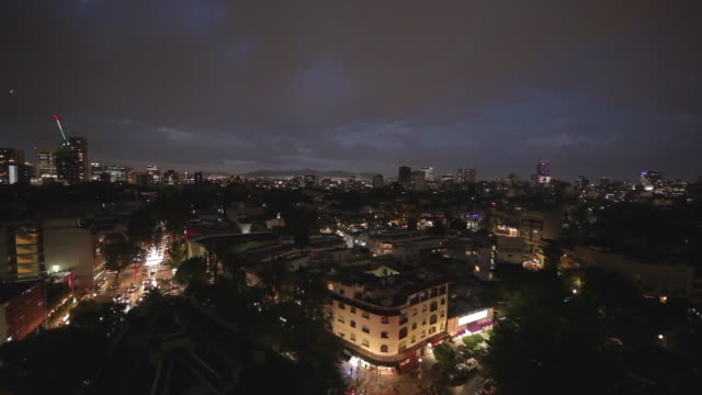 vidéos et rushes de day and night over mexico city - 360 video