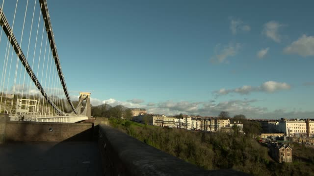 day and night shots of bristol skyline and suspension bridge england bristol high angle shots of bristol skyline and clifton suspension bridge... - clifton suspension bridge stock videos and b-roll footage