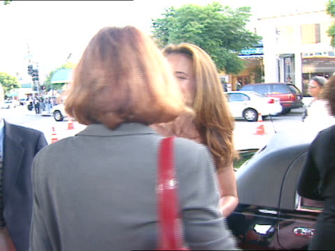 day andie macdowell exits limo onto red carpet & stands with organizers; looking around and pushing hair off face - andie macdowell stock videos & royalty-free footage