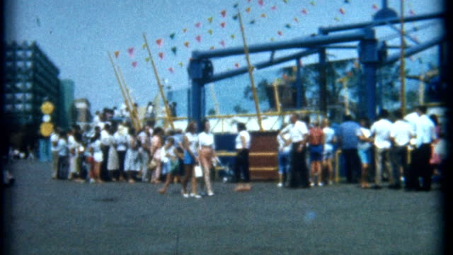 day at amusement park 1965 - 1965 stock videos & royalty-free footage