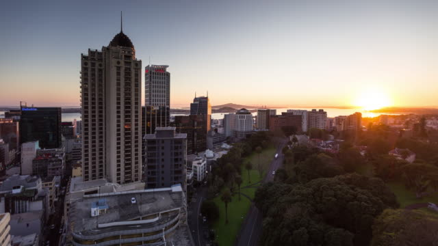 day dawning in auckland - time lapse - morning stock videos & royalty-free footage