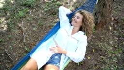 Day dreaming in hammock