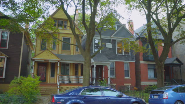 stockvideo's en b-roll-footage met day exterior frame two flat houses hyde park - onderdeel van een serie