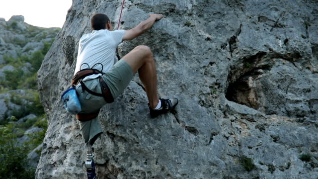 day for free climbing - rock climbing stock videos & royalty-free footage