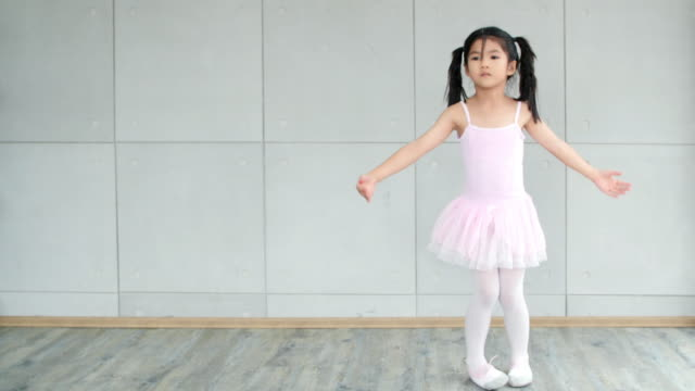 day in the life of a child : cute little girl dancing like a ballerina - ballet dancer stock videos & royalty-free footage