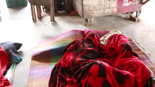 Day labor's are sleeping during cold wave in Dhaka Bangladesh on January 08 2018 The cold wave continues to disrupt life across the country in...