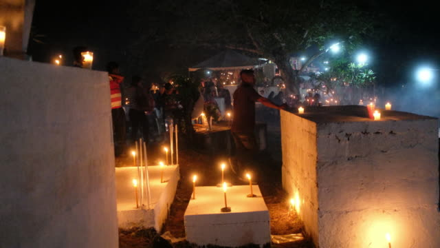 day of the dead event in axtla de terrazas mexico on wednesday october 31 2018 - votive candle stock videos and b-roll footage