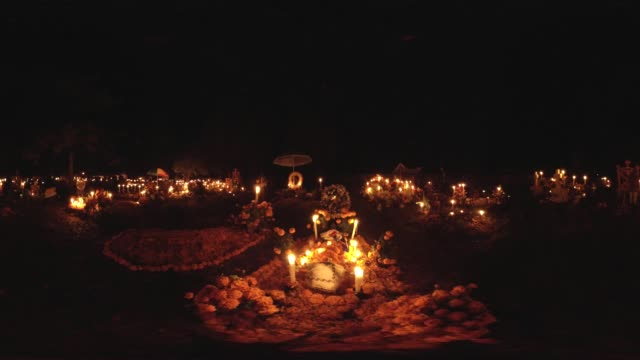 day of the dead in mexico at night - indigenous north american culture stock videos & royalty-free footage