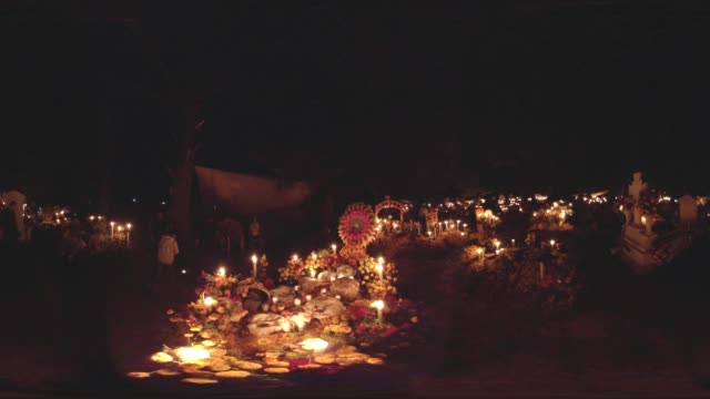 day of the dead in mexico at night - cemetery stock videos & royalty-free footage