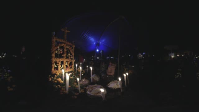 day of the dead in mexico - cemetery stock videos & royalty-free footage