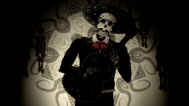 giorno dei morti mariachi - messico video stock e b–roll