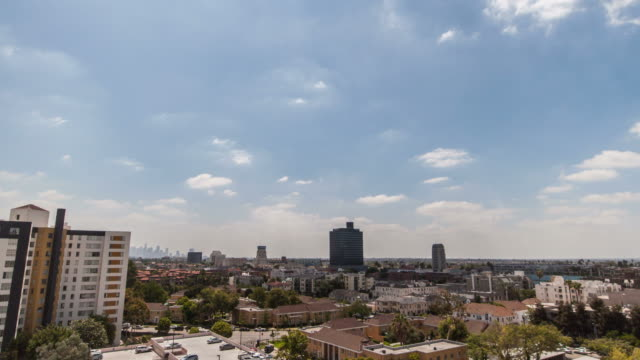 day time time lapse shot from apartment at la, ca,usa - west hollywood stock-videos und b-roll-filmmaterial