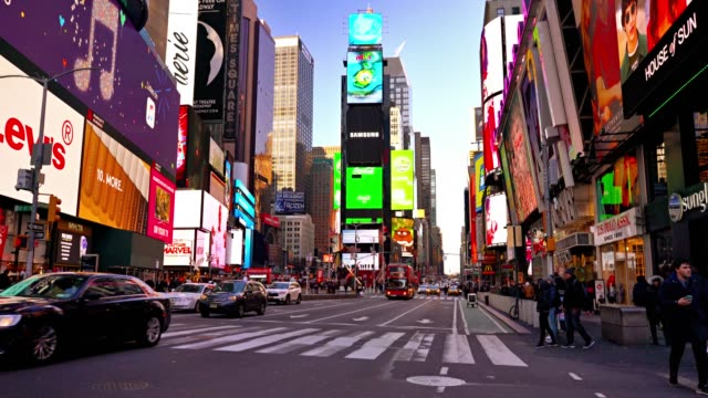 day. times square - times square manhattan stock videos & royalty-free footage