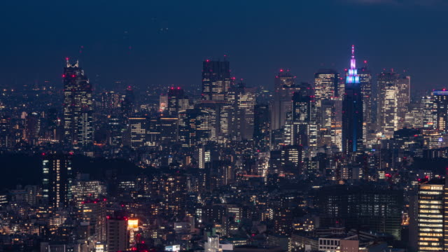 day to night 4k time lapse of tokyo cityscape at night, japan taken from roppongi hills - roppongi hills stock videos and b-roll footage
