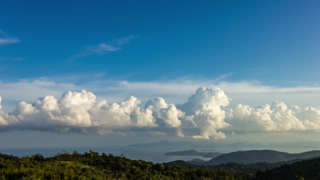 day to night clouds time lapse 4k - ko samui stock videos and b-roll footage