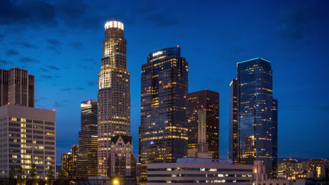 Day to Night in DTLA - Time Lapse