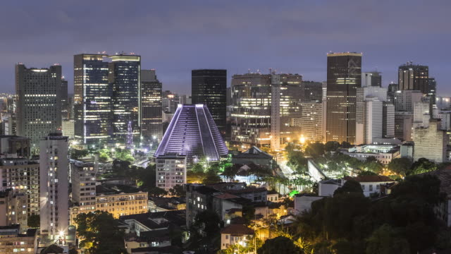TL, MS Day to night, Lapa and the central business district / Rio de Janeiro, Brazil