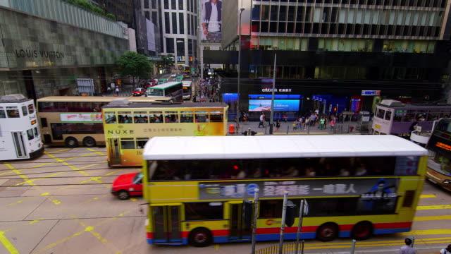 vidéos et rushes de day to night street scenes - ligne de tramway