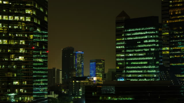 4K TIME LAPSE Day to Night (4096x2160) : The building office and cityscape at Bangkok, Thailand (Apple ProRes. 422(HQ))