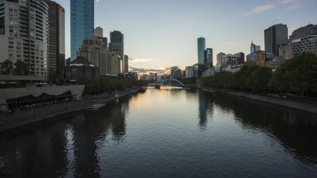 day to night time lapse at southbank, melbourne. - david ewing stock videos & royalty-free footage