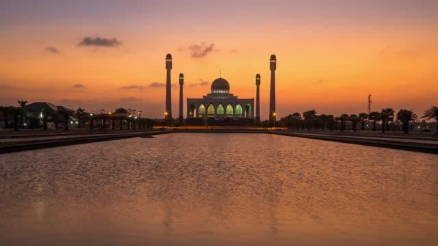 Do dia para a noite intervalo de tempo, Mesquita Central de Songkhla, Tailândia