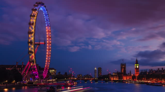 day to night time lapse of city of westminster , london, uk - day stock videos & royalty-free footage