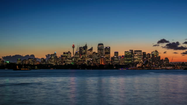 day to night time lapse of downtown sydney - sydney stock videos & royalty-free footage