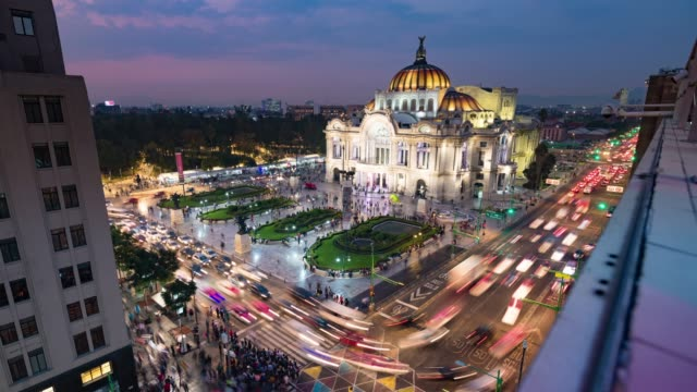 stockvideo's en b-roll-footage met dag tot nacht time lapse van mexico city skyline - mexico stad