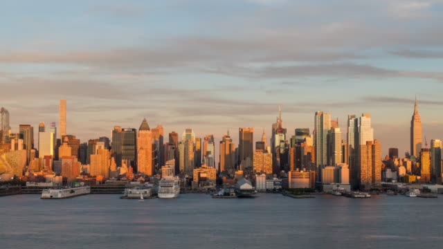 Day to night time lapse of Midtown New York City skyline