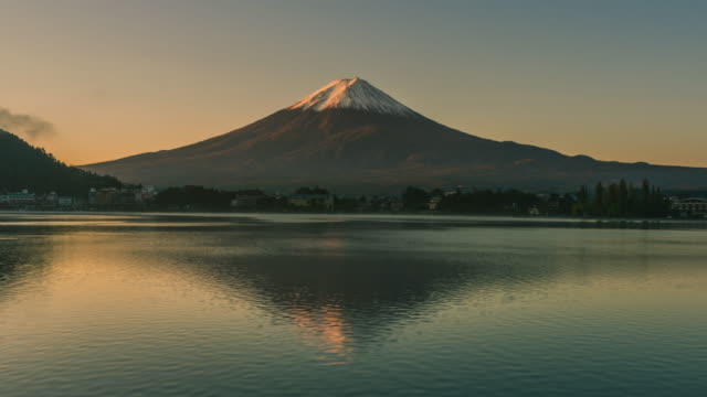 day to night time lapse of mt fuji, japan - mt fuji stock videos & royalty-free footage