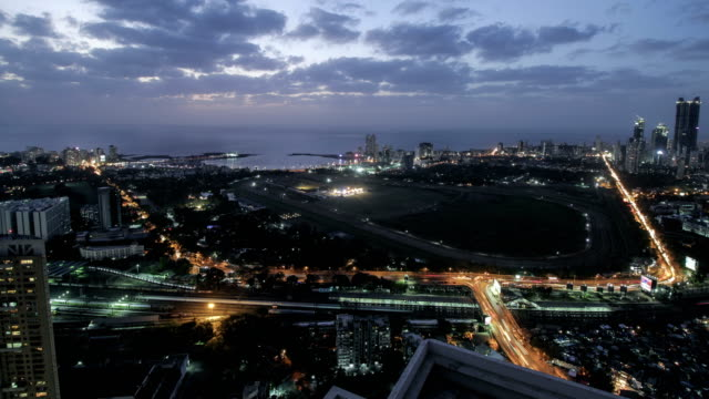 day to night time lapse of mumbai city - south asia stock videos and b-roll footage
