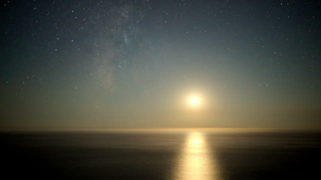 Day to Night Time Lapse over Ocean