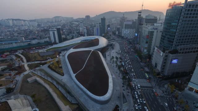 Giorno alla notte, time-lapse Dongdaemun, Seul, Corea
